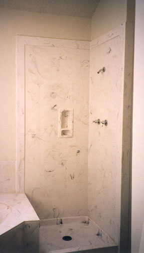 tub surrounds and shower cultured marble shower with soap dish